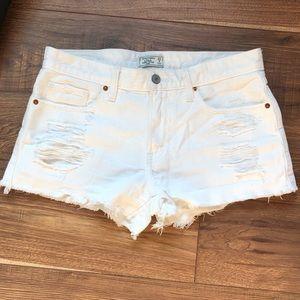 A&F white denim shorts!!
